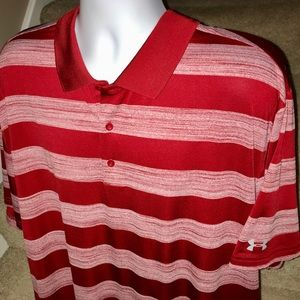 *Under Armour* Loose striped men's golf polo shirt